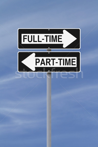 Full-Time-Term or Part-Time  Stock photo © lorenzodelacosta