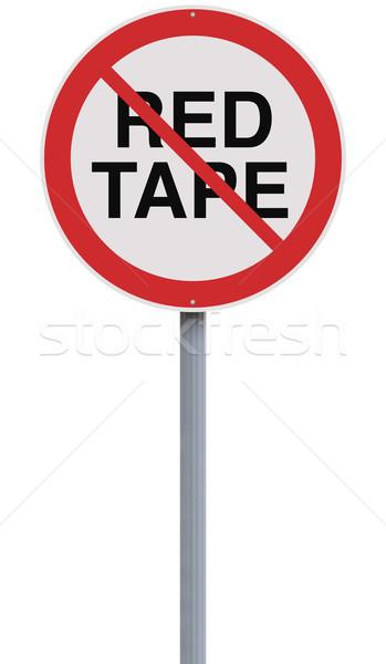 Bureaucratie niet toegestaan verkeersbord tape witte achtergrond Stockfoto © lorenzodelacosta