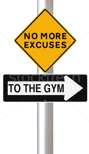 Gymnasium verkeersborden teken wellness Stockfoto © lorenzodelacosta