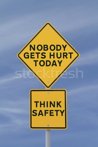 Nobody Gets Hurt Today!  Stock photo © lorenzodelacosta