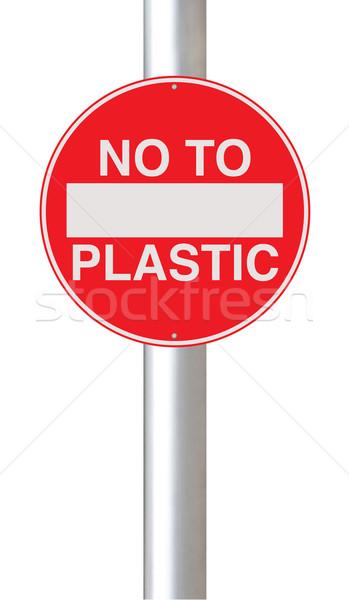 No to Plastic  Stock photo © lorenzodelacosta