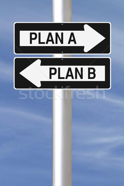 Plan plan b işaretleri planlama seçenekleri Stok fotoğraf © lorenzodelacosta