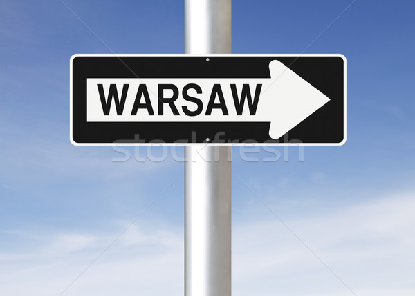 This Way to Warsaw  Stock photo © lorenzodelacosta