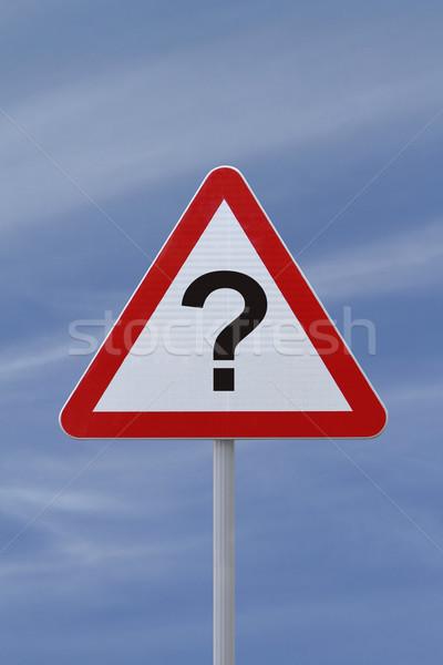 Question Mark Warning Sign Stock photo © lorenzodelacosta