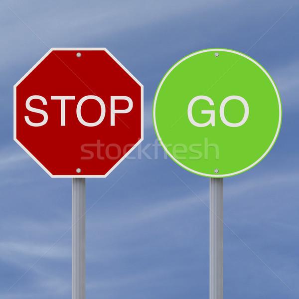 Stop And Go  Stock photo © lorenzodelacosta