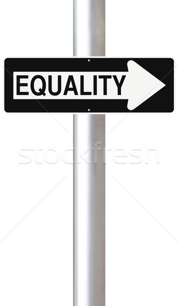 平等 道路標識 正義 道路標識 コンセプト ストックフォト © lorenzodelacosta