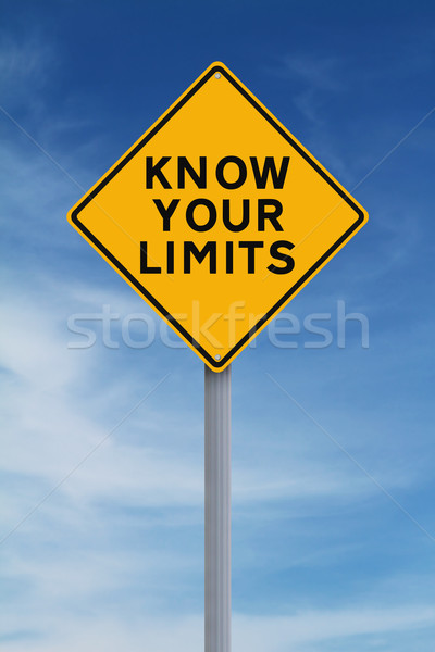 Know Your Limits  Stock photo © lorenzodelacosta