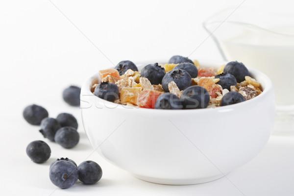 健康 朝食 ミューズリー 新鮮な ブルーベリー ストックフォト © lorenzodelacosta
