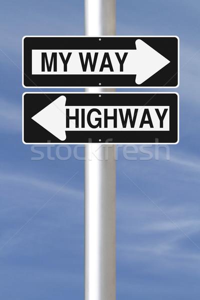 My Way Or The Highway  Stock photo © lorenzodelacosta