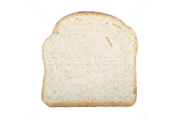 Plakje volkorenbrood voedsel tarwe geïsoleerd Stockfoto © lorenzodelacosta