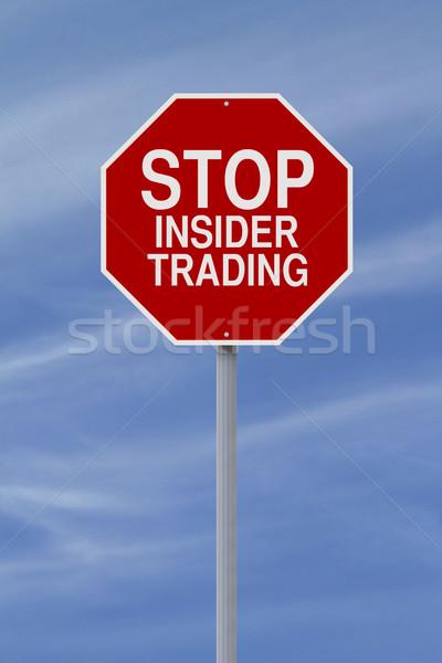 Stop Insider Trading  Stock photo © lorenzodelacosta