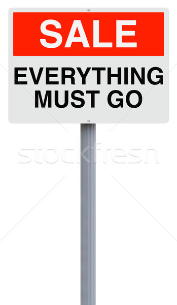 Stock photo: Everything Must Go