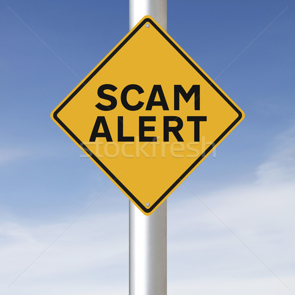 Scam Alert  Stock photo © lorenzodelacosta