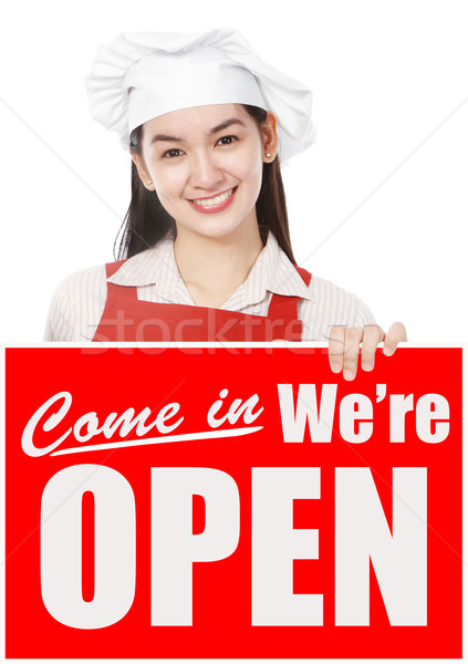 We Are Open!  Stock photo © lorenzodelacosta