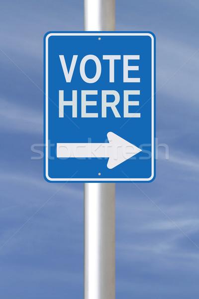 Vote Here  Stock photo © lorenzodelacosta