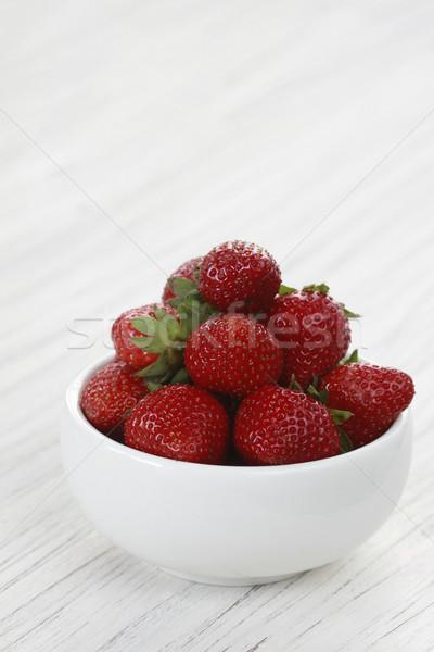イチゴ ボウル 新鮮な 食品 赤 果物 ストックフォト © lorenzodelacosta