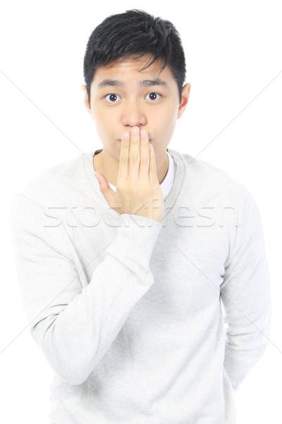 Oops tiener man student jongen Stockfoto © lorenzodelacosta