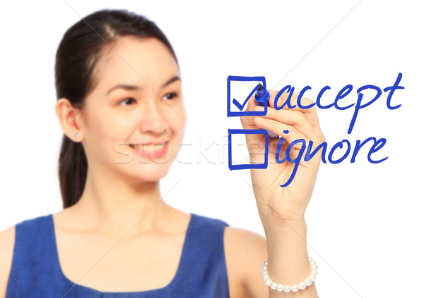 Accept or Ignore?  Stock photo © lorenzodelacosta