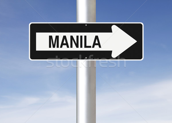 This Way to Manila  Stock photo © lorenzodelacosta