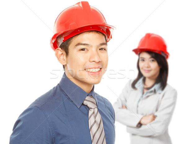 Stockfoto: Mensen · man · vrouw · achtergrond · uitvoerende
