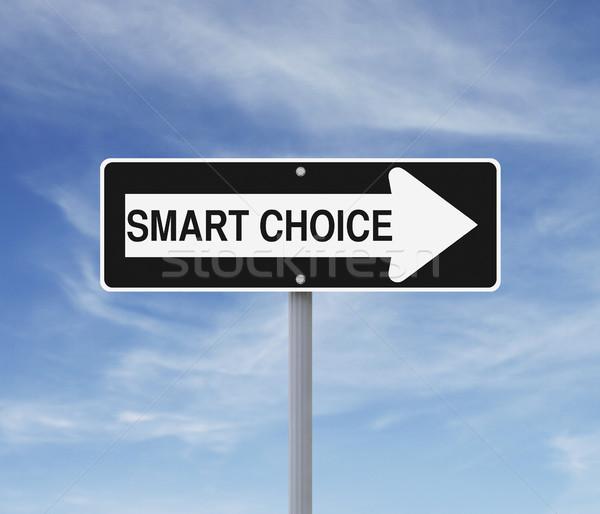 Smart Choice This Way  Stock photo © lorenzodelacosta