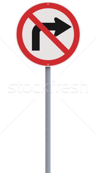 Do Not Turn Right  Stock photo © lorenzodelacosta