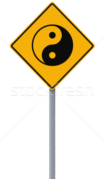 Yin Yang Road Sign  Stock photo © lorenzodelacosta