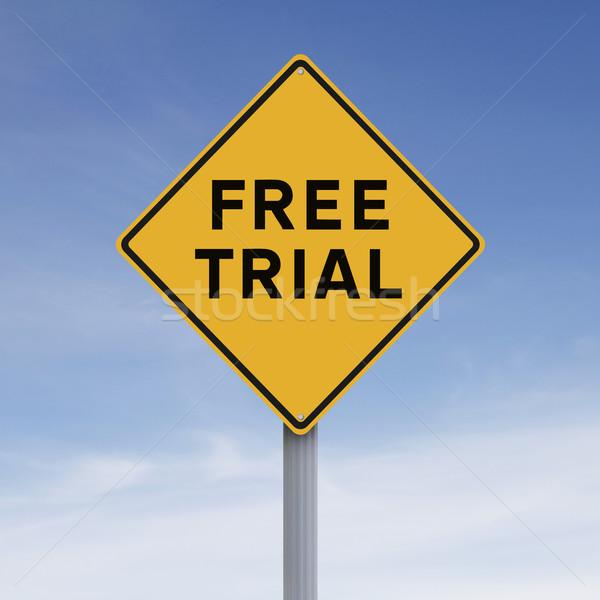 Free Trial  Stock photo © lorenzodelacosta