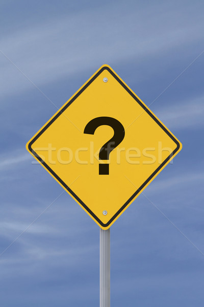 Question Mark Road Sign Stock photo © lorenzodelacosta