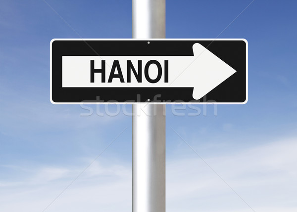 This Way to Hanoi  Stock photo © lorenzodelacosta