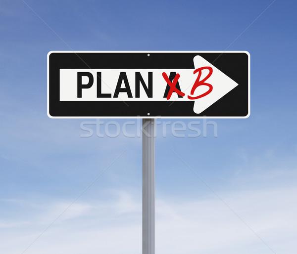 Değiştirmek plan b gökyüzü yol işareti kavram Stok fotoğraf © lorenzodelacosta