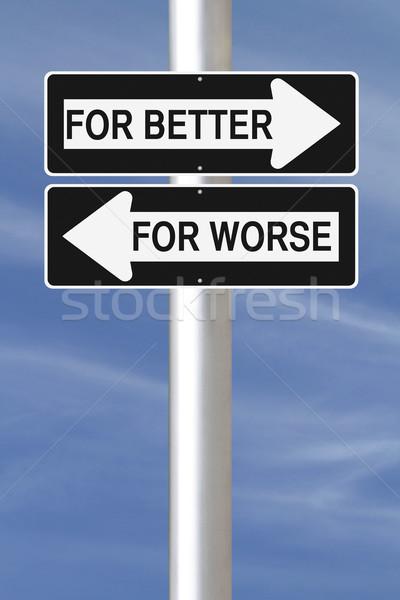 Jobb egyirányú utca feliratok mutat ellenkező Stock fotó © lorenzodelacosta