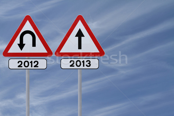New Year Straight Ahead  Stock photo © lorenzodelacosta