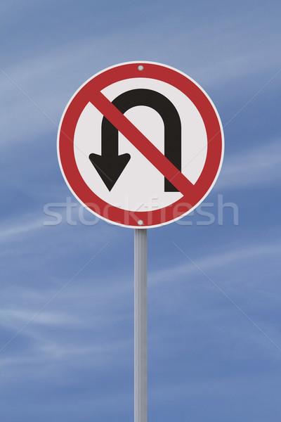 не разрешено нет дорожный знак знак синий Сток-фото © lorenzodelacosta
