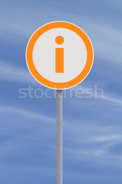 Információ jel jelzőtábla információ szimbólum égbolt biztonság Stock fotó © lorenzodelacosta