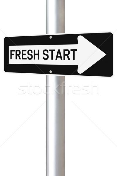 Fresh Start This Way  Stock photo © lorenzodelacosta