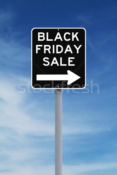 Stok fotoğraf: Black · friday · satış · gökyüzü · imzalamak · siyah