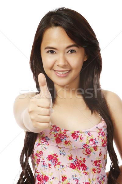 Stockfoto: Jonge · vrouw · teken · geïsoleerd · witte · vrouw
