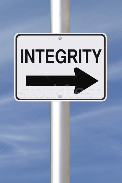 Integrity This Way  Stock photo © lorenzodelacosta