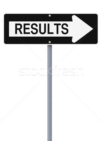 Results This Way  Stock photo © lorenzodelacosta