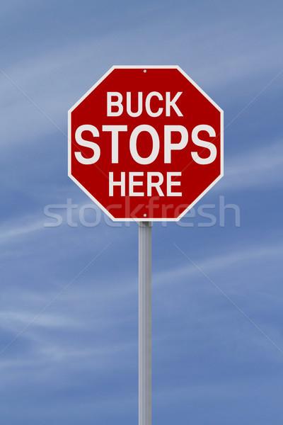 Buck Stops Here  Stock photo © lorenzodelacosta