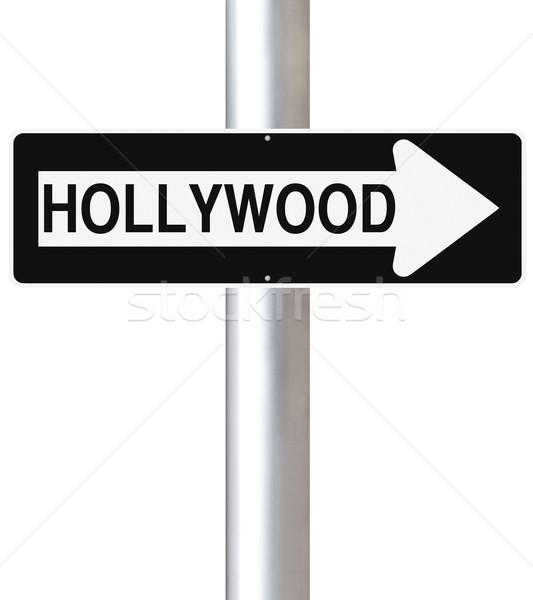 Hollywood USA segno intrattenimento Foto d'archivio © lorenzodelacosta