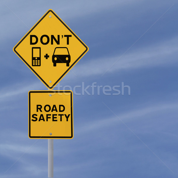 Don't Text & Drive!   Stock photo © lorenzodelacosta