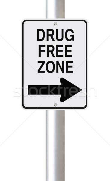Drog szabad erre egyirányú utca felirat veszély Stock fotó © lorenzodelacosta