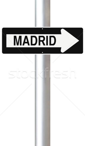 This Way to Madrid  Stock photo © lorenzodelacosta