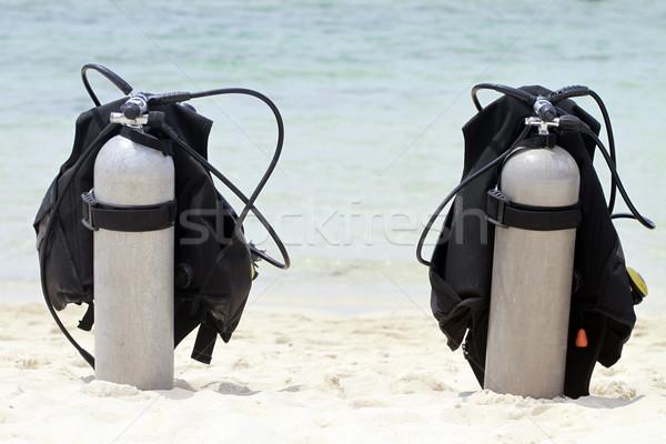 Skuba su deniz okyanus kum hava Stok fotoğraf © lorenzodelacosta