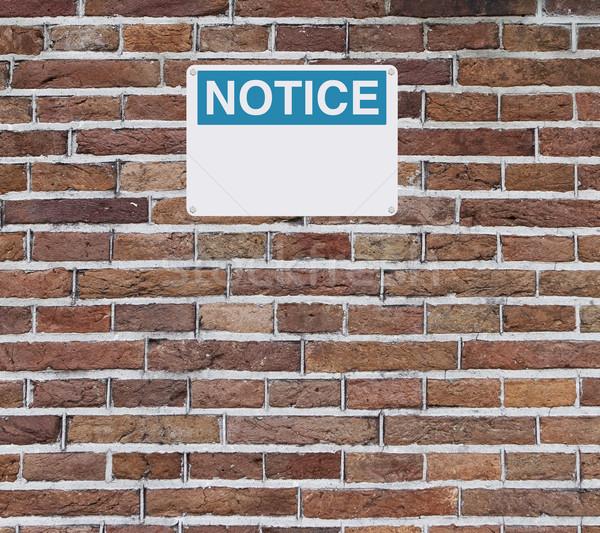 Blank Notice Sign  Stock photo © lorenzodelacosta