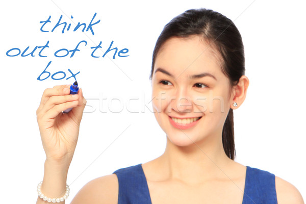 Think Out of the Box  Stock photo © lorenzodelacosta