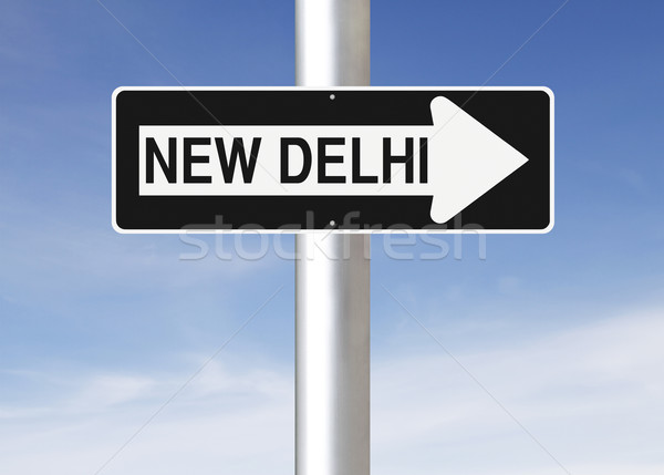 This Way to New Delhi  Stock photo © lorenzodelacosta