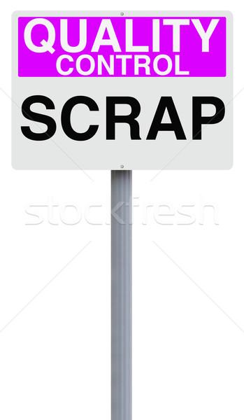 Scrap Sign  Stock photo © lorenzodelacosta